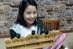 Huong with Dragon Bridge